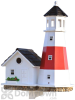 Home Bazaar Montauk Point Lighthouse Bird house 19.5 in. (HB9084)