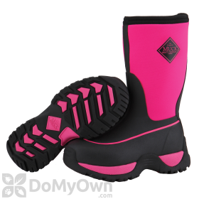 Muck Boots Kids Rugged Pink and Black Boot
