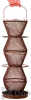 No / No  Feeder Five Tier Bronze Bird Feeder 5 lb. (BZ500333)