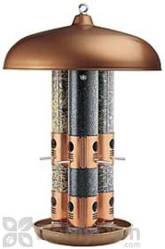 Opus Copper Top Flight Triple Tube Bird Seed Feeder (7103)