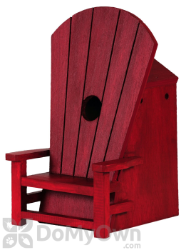 Outside Inside Red Adirondack Chair Bird House (99835)