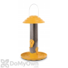 PineBush Tube Finch Feeder with Tray and Cap Yellow 12 in. (07054)