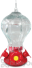 PineBush Fluted Glass Hummingbird Feeder 30 oz. (88022)