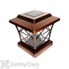 Pine Top Solar Plastic Fence Light - Copper Plated