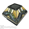 Pine Top Solar Stained Glass Fence Light With 2 Adapters