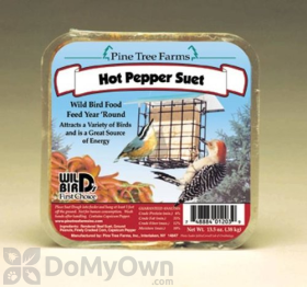 Pine Tree Farms Hot Pepper Suet Cake Bird Food 12 oz. (1203)