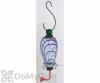 Rainbow Gardman Clear Cylinder with Blue Swirl Hummingbird Feeder (05713)