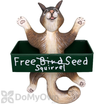 Songbird Essentials Dangling Squirrel Square Metal Tray Bird Feeder (SE3870134)