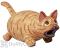 Songbird Essentials Orange Leaping Tabby Cat Bird House (SE3880123)