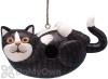 Songbird Essentials Black & White Cat on His Back Bird House (SE3880193)
