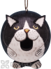 Songbird Essentials Black and White Cat Gord O Bird House (SE3880203)