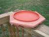 Songbird Essentials Cedar NON - Heated Bird Bath Deck Mount 14 in. (SE568)