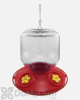 Songbird Essentials Dr. JB Complete Switchable Hummingbird Feeder with Yellow Flowers Bulk 32 oz. (SE6029)
