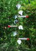 Songbird Essentials Copper Ivy Plant Hanger with 3 Hummingbird Feeder Stations 22 in. (SEHH22HK)