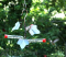 Songbird Essentials Copper Ivy Hummingbird Feeder 3 Tubes (SEHHHMBF)