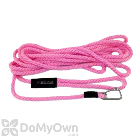 """Soft Lines Floating Dog Swim Snap Leashes - 1 / 4"""" Diameter x 50' Hot Pink"""